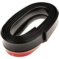 Amsik Universal PU Rubber Bumper Lip Splitter Chin Spoiler Body Trim Glossy Black, Car Bumper Door Edge Guard…