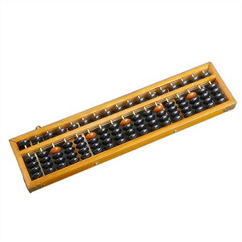 Abus Soroban - Calculadora japonesa de madera de 17 dígitos con botón...