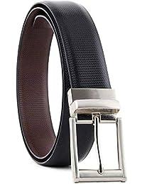 KAEZRI Reversible PU-Leather Formal Black/Brown Belt for Men(Color-Black/Brown)