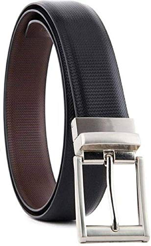 KAEZRI Men's Reversible PU Leather Formal Be...