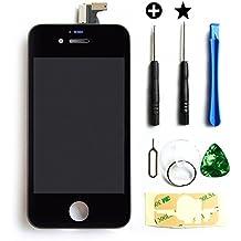 MMOBIEL LCD pantalla delantera de repuesto para IPHONE 4S (Negro) Incluye kit de 7 herramientas premium y manual de instrucciones
