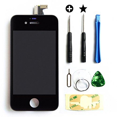 MMOBIEL LCD Pantalla Delantera de Repuesto para iPhone 4S (Negro) Incluye Kit de 7 Herramientas...