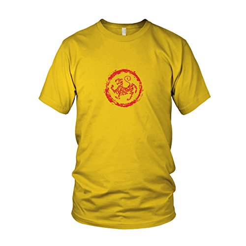 Shotokan Tigerrolle Logo - Herren T-Shirt Gelb