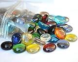 100Couleurs mélangées rond en verre Galets/pierres/strass/pépites/perles 17–20mm