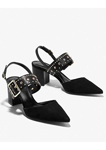 ZPPZZP La sig.ra sandali pendenza con il stile Coreano punta aperta a tacco alto pendio con spessi 38EU