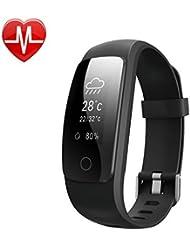 Willful SW331 Tracker d'Activité étanche Bracelet Connecté Montre Cardio Connectée Sport Podomètre avec Cardiofréquencemètre,Sommeil,Compteur de Pas Calories,Mode multi-sport,Alarme Vibrante,Alertes Appel SMS Compatible IOS Android pour Femme Homme