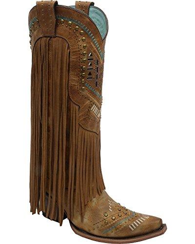 Corral Boots  C2910, Bottes et bottines cowboy femme Marron - Tan