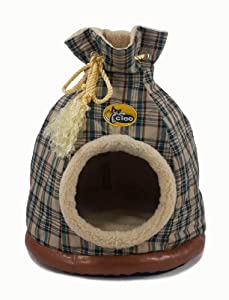 Cleo Pet Limited Cat Duffle Bed Cream Tartan Large by Cleo Pet Limited