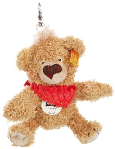 Steiff 14475 - Schlüsselanhänger Teddybär 11 cm Knopf (Steiff Teddybär Knopf)