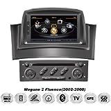 REALMEDIA Renault Megane 2 Fluence Autoradio Touchscreen Android Naviceiver CD DVD USB SD WIFI 3D GPS Navigation TV Bluetooth Freisprecheinrichtung +++REALMEDIASHOP Garantie+++