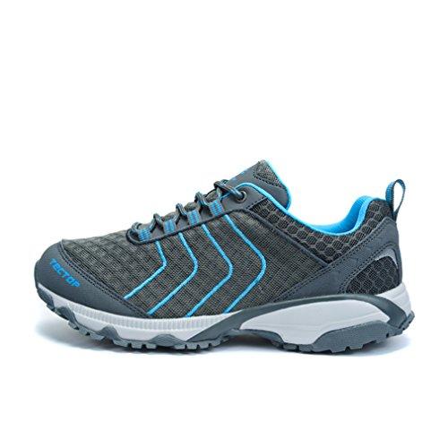 emansmoer Herren Mesh Atmungsaktiv Ultraleicht Komfort Outdoor Footwear Sport Camping Wandern Walking Trekking Schuhe Grau