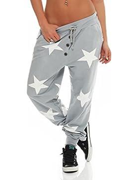 malito stella Boyfriend Harem Pantaloni Sweatpants HaremAladin Sbuffo Pantaloni Pump Baggy Yoga 8025 Donna Taglia...