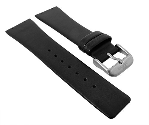 s.Oliver Uhrenarmband 24mm Leder Band zum Verschrauben schwarz SO-1125 Modelle