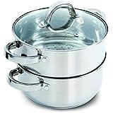 Oster Hali Juego de recipientes con tapa para hornillo, uso, acero inoxidable