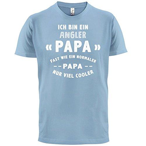 Ich bin ein Angler Papa - Herren T-Shirt - 13 Farben Himmelblau