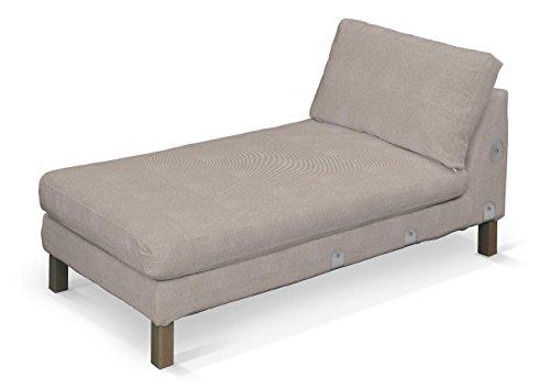 Dekoria Karlstad Recamiere-Bezug Zustellsofa kurz Husse passend für Ikea Modell Karlstad beige-grau...