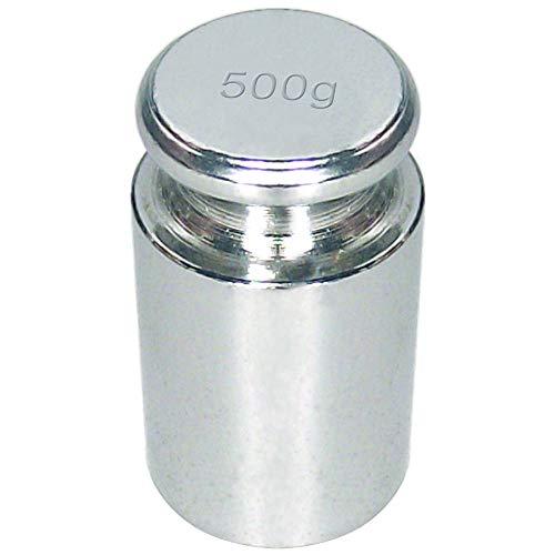 Justiergewicht/Kalibriergewicht für Digitalwaagen - 500 Gramm - SILBER - zum Kalibrieren von Digitalwaagen/Waagen