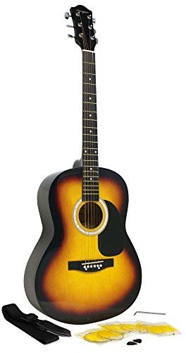 Martin Smith W-100 Pack Guitare acoustique avec sangle, médiators et cordes - Sunburst