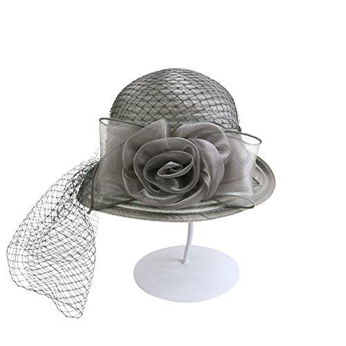 Femme chapeau/Été organza chapeau/ capuchons de gaze Mysterious/ rétro chapeau Continental/Chapeau de soleil pliable C