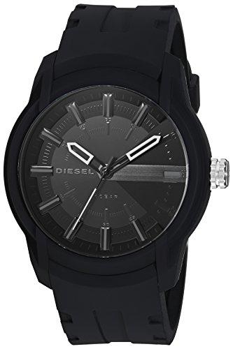 Diesel Herren Quarz Uhr mit Silikon Armband DZ1830
