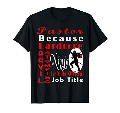 Devil Dog Schwarz T-shirt (Pastor Devil Stomping Ninja T-Shirt)