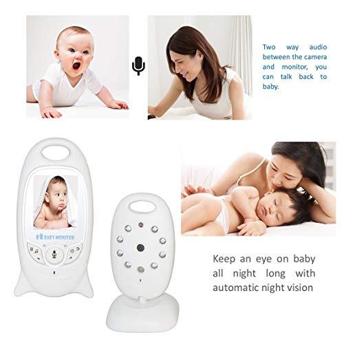 fghdfdhfdgjhh Baby monitor wireless digitale 2 pollici Display a colori Camera Night Vision Security 2 vie Talk Back Monitoraggio della temperatura Fit VB601