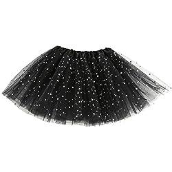 MIOIM Vestido de Fiesta de la Princesa TuTu Falda Lentejuela Estrella Gasa  con Brillos de Ballet bf55cf404b79