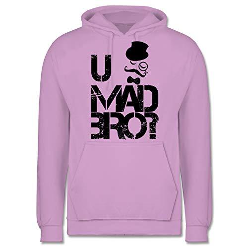 Shirtracer Hipster - U MAD BRO? - XL - Lavendel - JH001 - Herren Hoodie