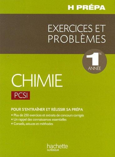 Exercices problèmes Chimie PCSI 1re ann...