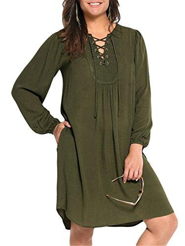 Cfanny - Robe - Femme vert olive
