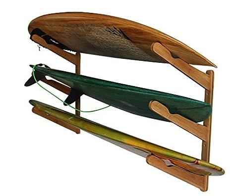 Cor Surf Planche de surf en bois Multi murale–Affichage de rack en bambou (Bambou)