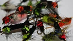 Flextec 20 X Assorted Trout Flies Montana Nymph Fly Selection