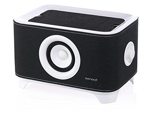 Sonoro Troy, mobiler Lautsprecher und Ladestation, weiß/schwarz