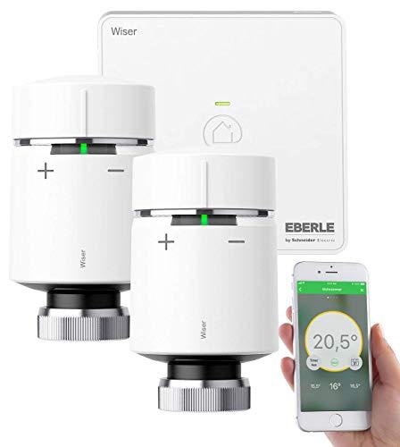 Wiser Starter-Kit - intelligente Raumtemperaturregelung für jedes Zuhause - einfach per Smartphone und Wiser Heat App zu bedienen