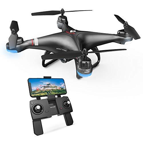 Holy Stone HS110G GPS Drohne mit 1080P 110° Kamera HD, RC Quadrocopter mit WiFi FPV-Live-Videokamera, Benutzerdefinierter Flugweg, 13 Min Flugzeit, Follow Me Funktion usw, Ideal für Kinder