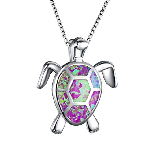 595d9a3c8b8d Joyas casuales! Longra mujeres encanto lindo suéter collar opal tortuga  colgante adorno de joyería