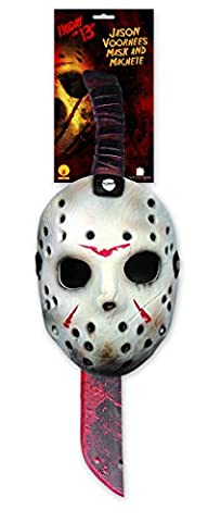 Rubies Fancy Dress Party Costume Accessory Licensed Friday The 13th Jason Mask And Machete Set