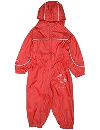 Regatta Puddle II - Mono impermeable para niños rojo Pepper Talla:36-48 Months