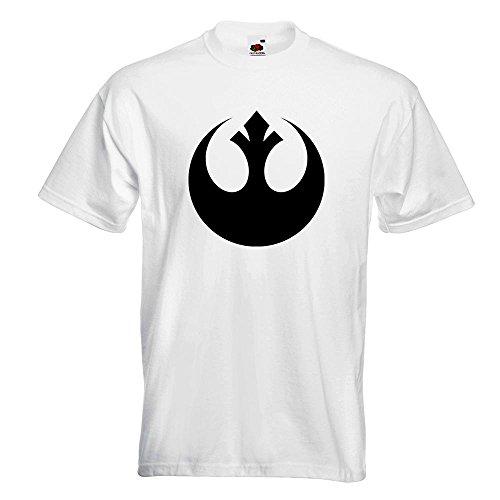 Kiwistar Rebellen-Allianz / Jedi T-Shirt in 15 verschiedenen Farben Herren Funshirt bedruckt Design Sprüche Spruch Motive Oberteil Baumwolle Print Größe S M L XL XXL Weiß