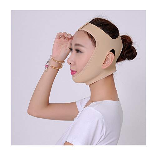 CY Face-Lifting-Maske, V-Face-Lifting Doppelkinn Postoperative Erholung Elastischer Schlaf-Plastikverband (Size : L)
