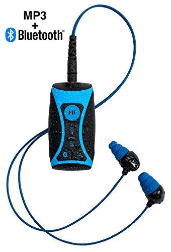 100% wasserdicht Stream MP3Musik Player mit Bluetooth und Unterwasser Kopfhörer für den Schwimmen Wassersport kurz Kordel 8GB à'¬ ✠von H2O Audio