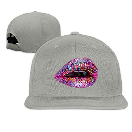 Osmykqe Glitter Lips Leichte atmungsaktive Outdoor-Laufmütze Athletic Baseball Fitted Caps für Herren - Baseball-cap Boston Kleinkind