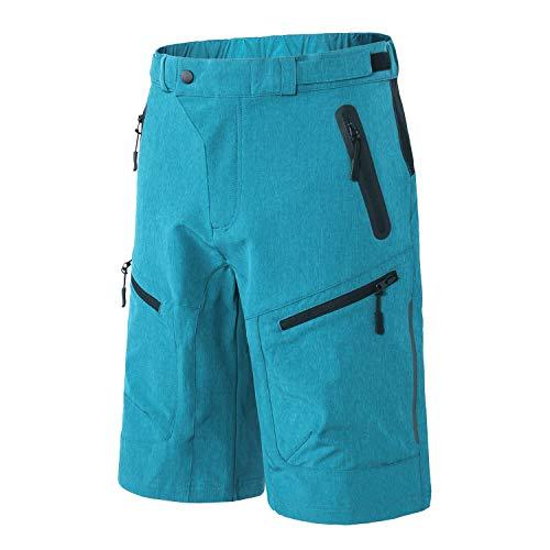 INBIKE Radhose Herren Kurz MTB Hose Männer Fahrradhose Freizeithose Radlerhose Atmungsaktive 4 Praktische Reißverschlusstaschen für Radsport Freizeit Radreisen City und Alltagstouren(Blau XL)