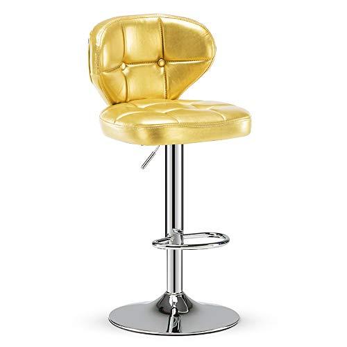Barhocker Counter Height Adjustable Bar Stühle mit Rückenlehne Barhocker PU Leder Sitz Swivel Barhocker,Yellow -
