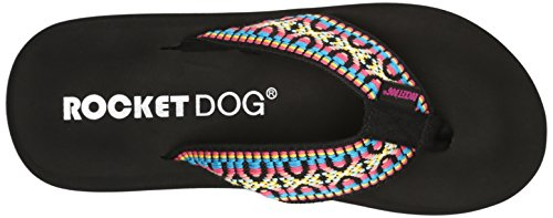 Rocket Dog Spotlight Toile Tongs Black Madre