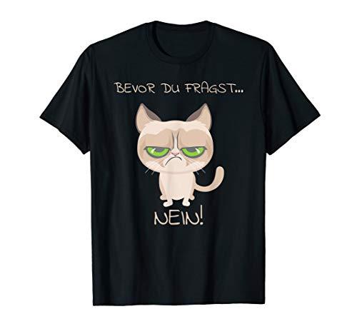 Kostüm Menschen Für Katze Lustige - Bevor du fragst Nein lustiges Katzen T-Shirt Kostüm Karneval