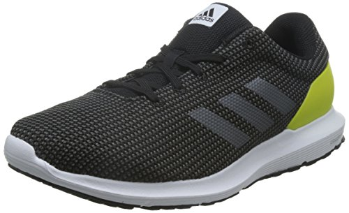 Adidas Cosmic, Scarpe da Corsa Uomo, (Black/Yellow/Grey), 44 2/3 EU
