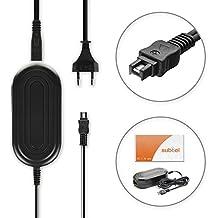 subtel® Fuente de alimentación Sony FDR-AX53, -AX100 -AX33, HDR-CX250 -CX220, -CX190, -CX410, DEV-50, DSC-HX1, DCR-SX - ca. 3m, AC-L200, 8.4V cable de corriente