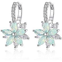 de1d8d6338fc Pack de 2 pendientes TOUS Basics con 4 motivos diferentes de plata de ... Pendientes  mujer Pendientes plata con flor Cubic Zirconia Crystal Clip en ...