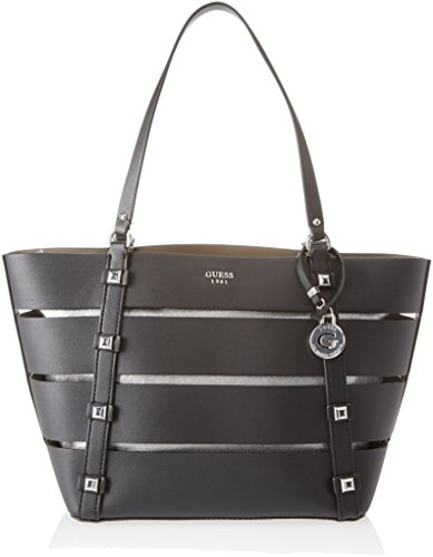 Guess Damen Bags Hobo Schultertasche, Schwarz (Black), 16x26x44 centimeters (Taschen Guess Hobo)